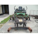 John Deere Z Trac salvage lawn mower with aerator