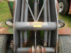Power Trac PT-2425 Mini Skid Steer ser# 18928 with trailer, power rake, tree spade, front bucket,