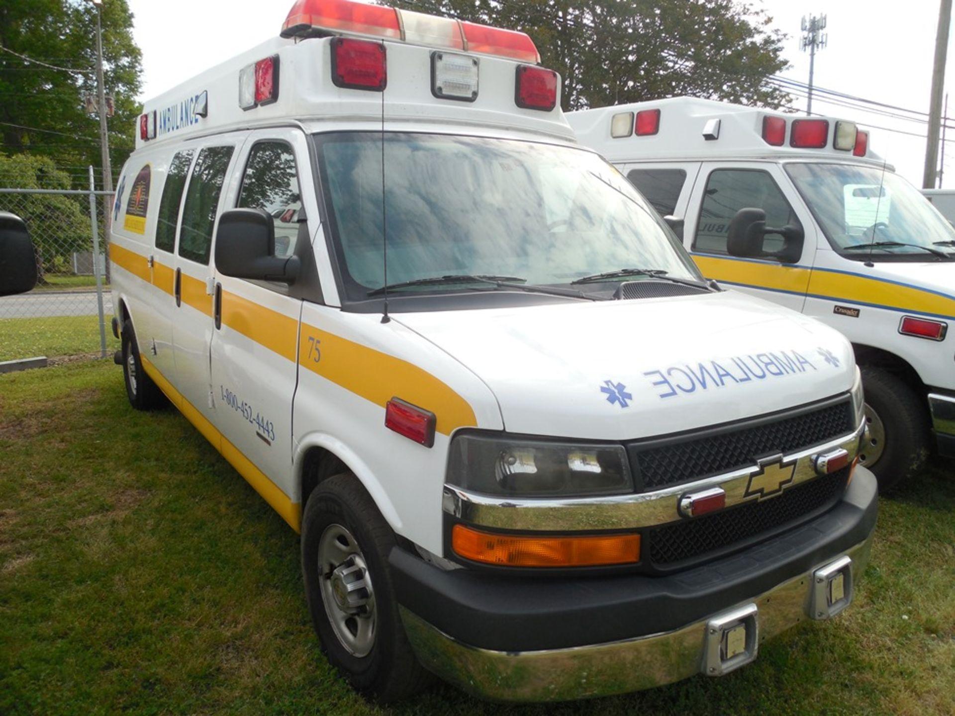 2013 Chev van ambulance dsl, Express Stable Trac 204,709 miles vin# 1GBZGUC13D1130018 - Image 3 of 6
