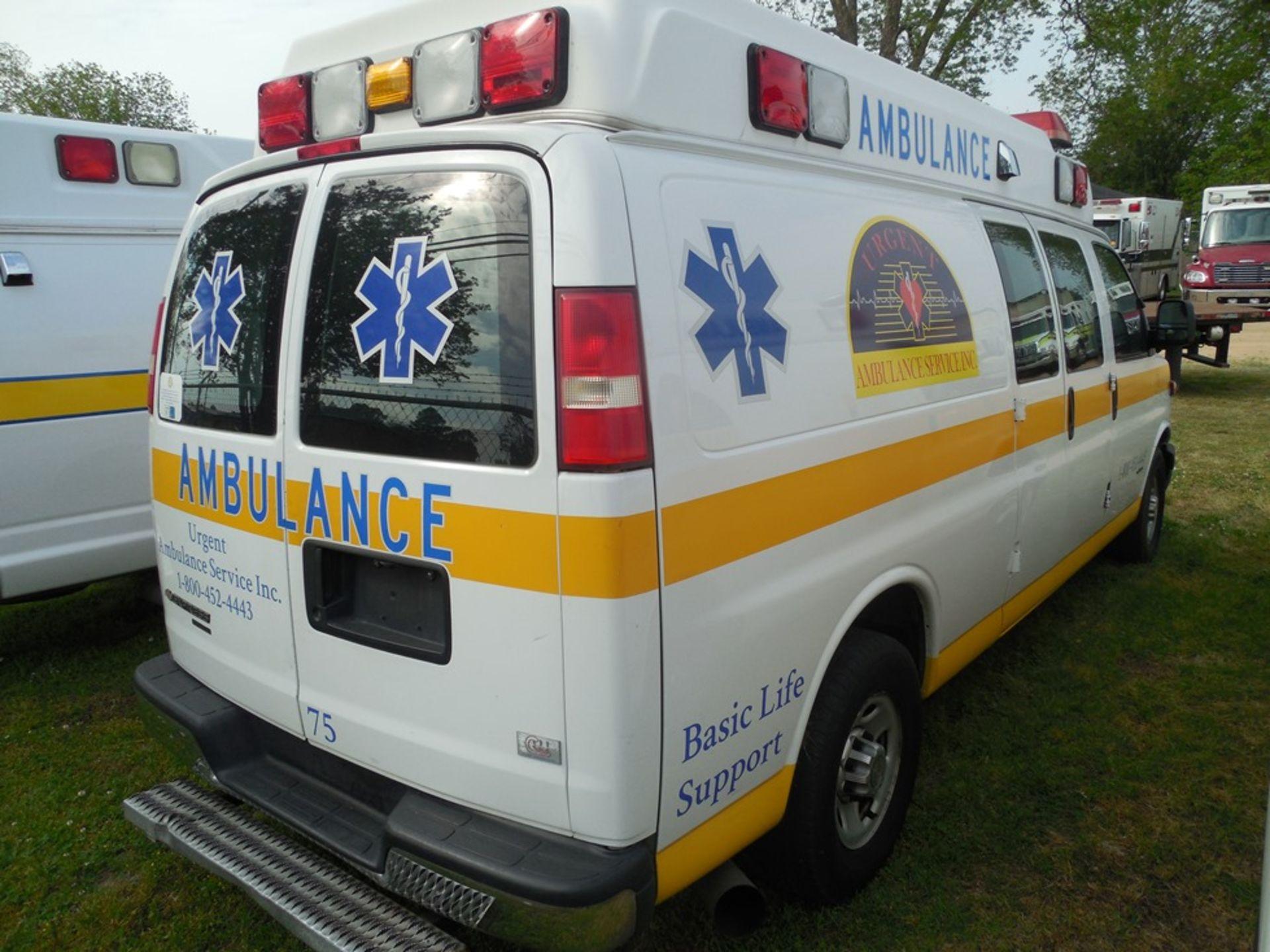 2013 Chev van ambulance dsl, Express Stable Trac 204,709 miles vin# 1GBZGUC13D1130018 - Image 4 of 6