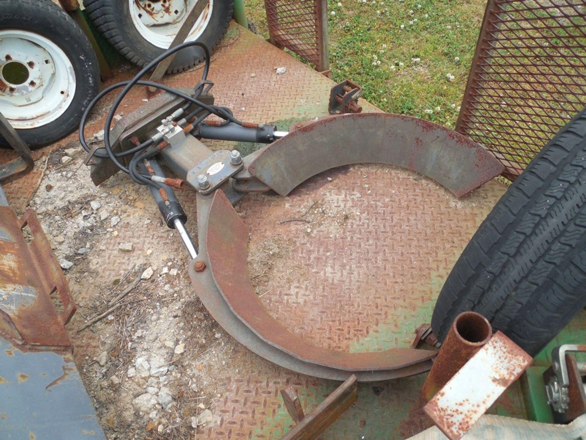 Power Trac PT-2425 Mini Skid Steer ser# 18928 with trailer, power rake, tree spade, front bucket, - Image 11 of 13