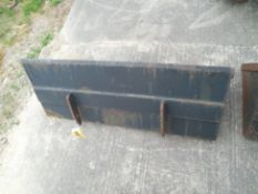 "Mini skid steer front bucket 42"""