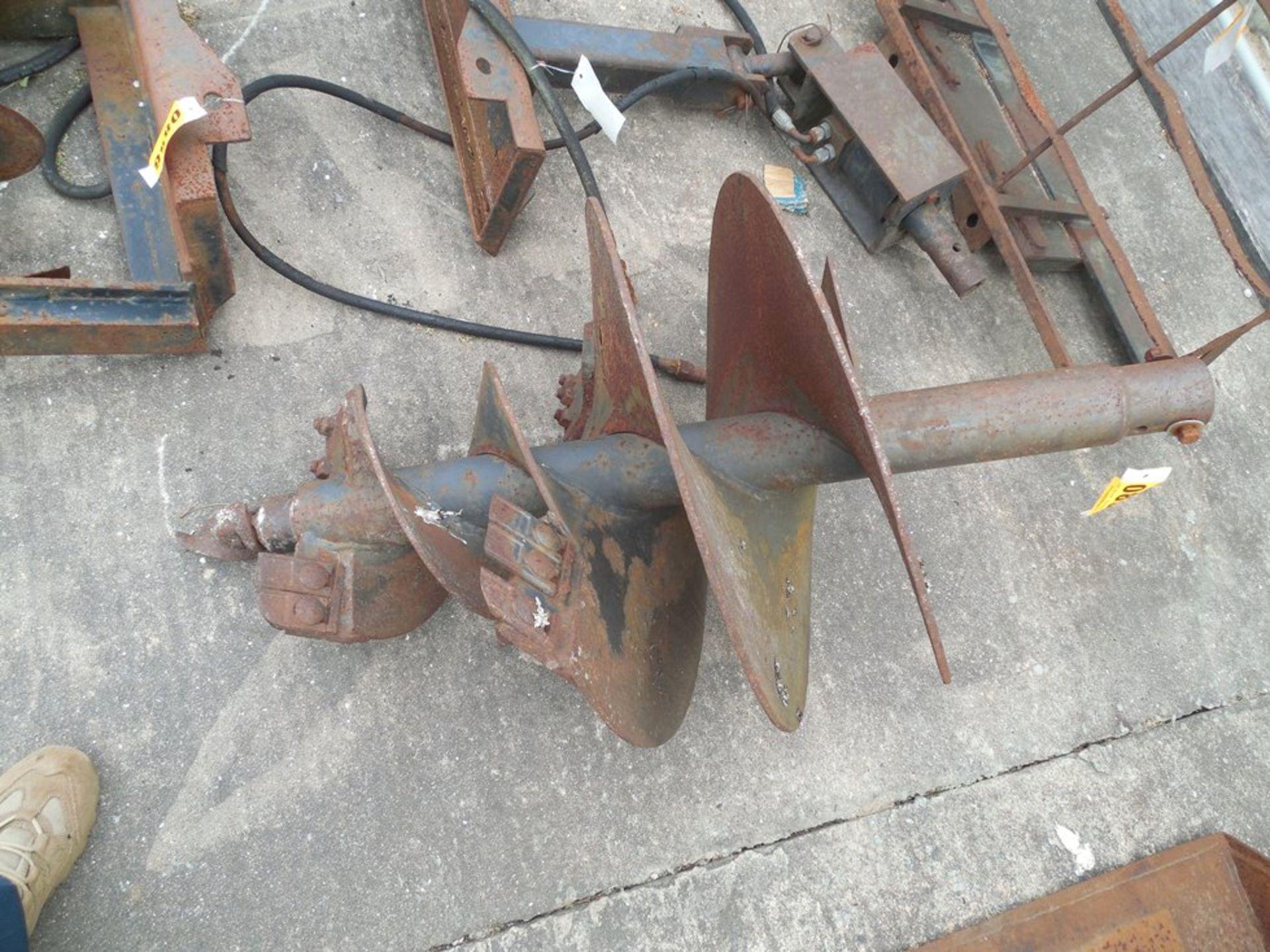 """Mini Skid Steer hydraulic 24"""" post hole augor - Image 2 of 2"""