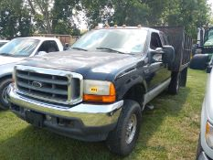 2001 FORD F250 Xcab, gas, with 10ft electric dump, vin 1FTNX21LX1EB16803