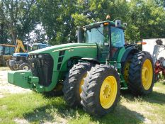 JD 8300 4wd, duals front and rear (front dual tires cut) 7607 hrs, straight from field, hood cracked