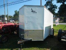 2013 LARK 12' enclosed single-axle trailer, ramp door V nose vin# 5RTBE121DD031900