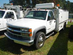 1998 CHEVROLET 3500 HD tire service truck, diesel, reg cab, vin #1GBKC34FLWF026164 219,368 miles