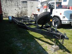2001 Browgard 35' tri-axle boat/car hauling trailer, hyd jack, adjustable bunks, ramps, vin#