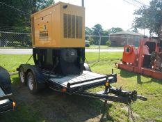 CAT D40P1 40KW diesel generator on trailer 1031 hrs