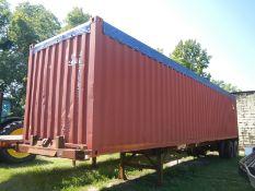 45' steel open top container trailer