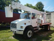 2000 FREIGHTLINER FL80 bucket truck, CAT, 7-speed,