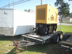CAT 75P2 70KW diesel generator on trailer 944 hrs emergency stop switch is bad and is removed at