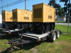 CAT D40P1 40KW diesel generator on trailer 828 hrs