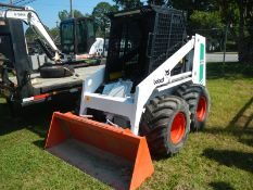 BOBCAT 642B skid steer loader, diesel 1665 hrs on dsl engine, flotation tires used on turf
