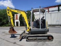 2016 Wacker Neuson EZ38 Mini Excavator Loader- Located in Lester, PA