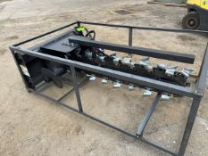 New Wolverine Skid Steer Trencher Attachment (o)- Located in Lester, PA