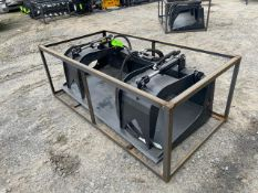 New Wolverine Skid Steer Hyd Grappler Bucket (q)- Located in Lester, PA