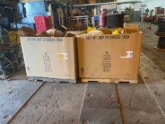 Two Boxes Filled with Pipe Fittings