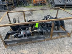 Wolverine Skid Steer Auger Attachment with 4 drill bits (n1)