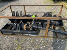 Wolverine Skid Steer Auger Attachment with 4 drill bits (p1)