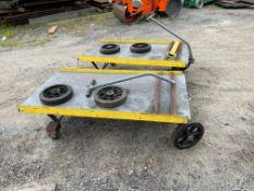 Lot of 2 Steel Carts