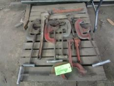 Lot of Pipe Wrenches and Cutters -Located in Cinnaminson, NJ