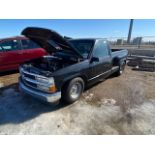 1997 CHEVROLET DRAG PICK UP TRUCK, REGISTRATION INDICATES REBUILT, MODIFIED ENGINE