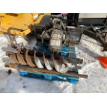 LOWE MODELSK 150 SKIDSTEER AUGER ATTACHMENT, WITH 10IN AND 11IN AUGERS AND TWO 48IN EXTENSIONS - GP