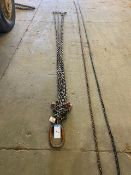12FT 3/8IN 4 WAY SPREADER CHAIN, 18,400LB