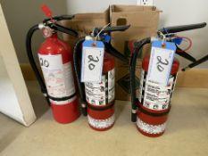 L/O 3 - 5LB FIRE EXTINGUISHERS