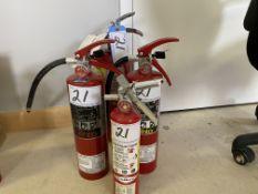 L/O 1 -10LB, 2-5LB, 1-2 1/2LB FIRE EXTINGUISHERS