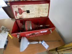 MILWAUKEE ELECTRIC DRAIN AUGER & RIGID MANUAL DRAIN AUGER - TESTED