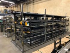 SSS Inc (Steel Storage Systems Inc) 3T-2C-24x12R-20' Roll-Out Cantilever Rack s/n: 5205