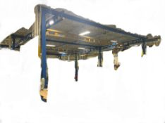 2017 Gorbel Free Standing Work Station Crane System. approx 39' x 16' x 63' w/ 2- 1,000lb bridges