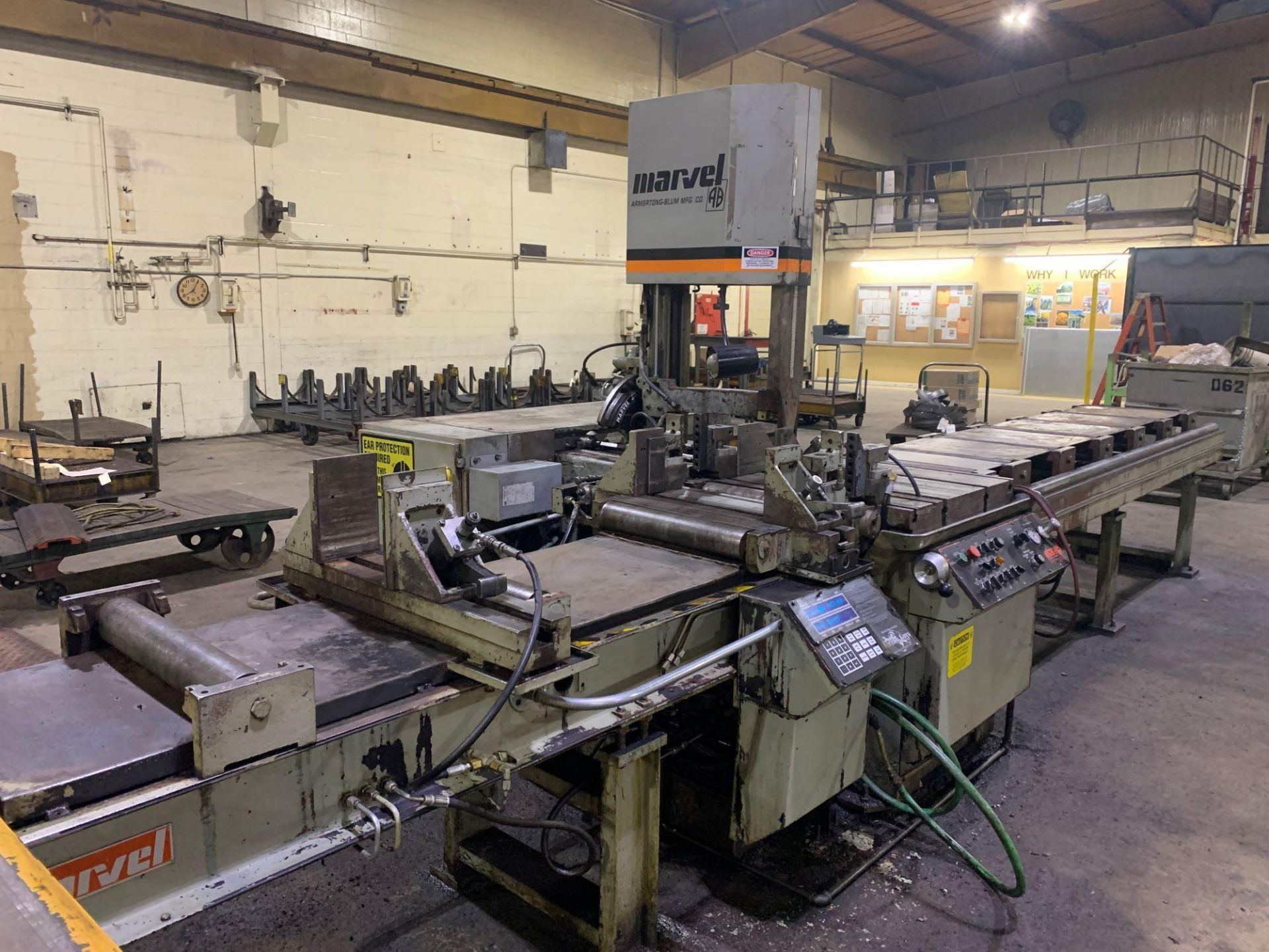 """Marvel Armstrong Blum Automatic Universal Band Saw Model 81A11PC Rated Capacity 18"""" x 20"""" Serial No. - Image 6 of 30"""