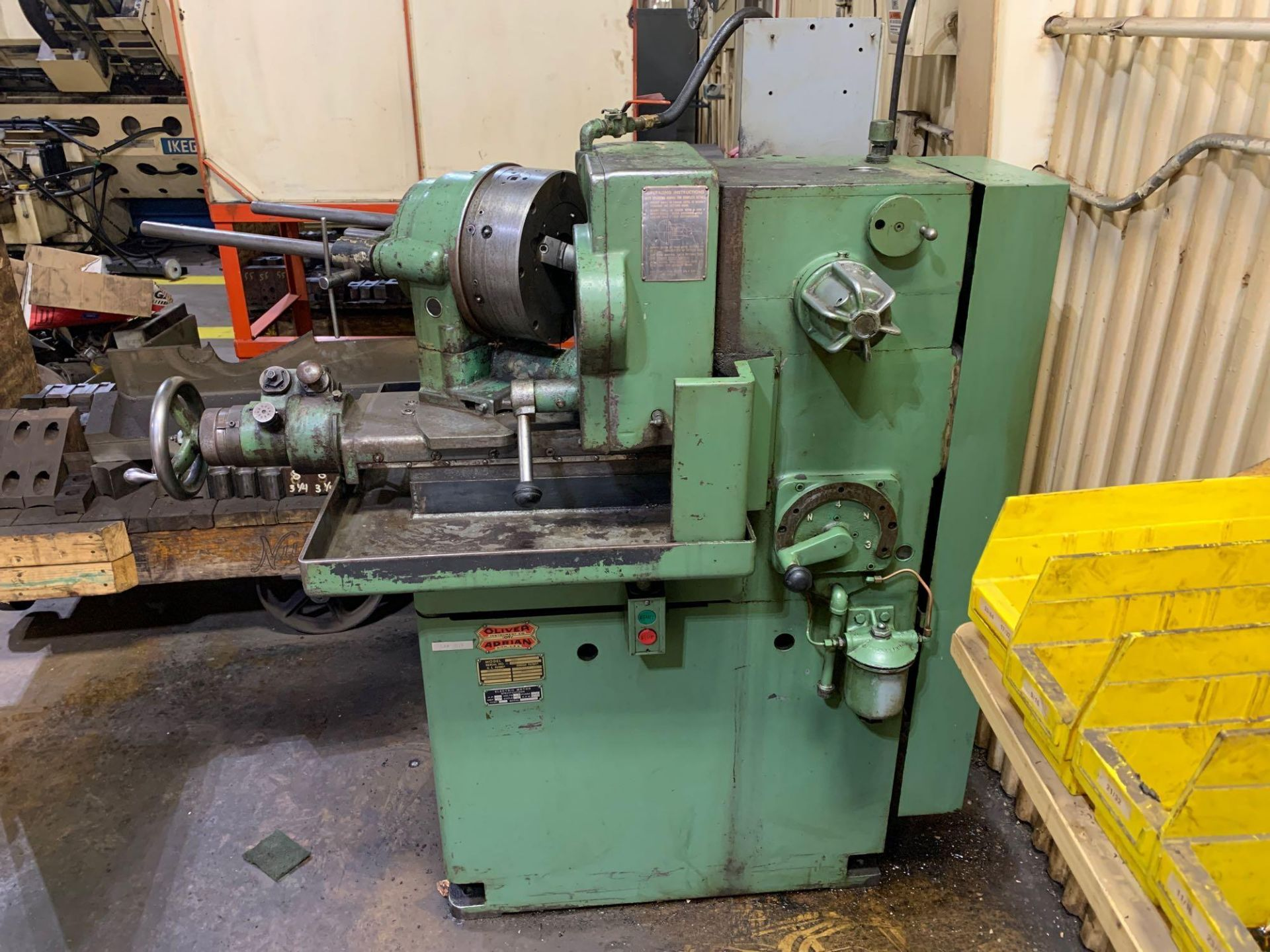 """Oliver Drill Grinder With Air Infeed Model: 600 Serial Number: 66890 Rated Capacity 1/2"""" to 3"""" Will"""