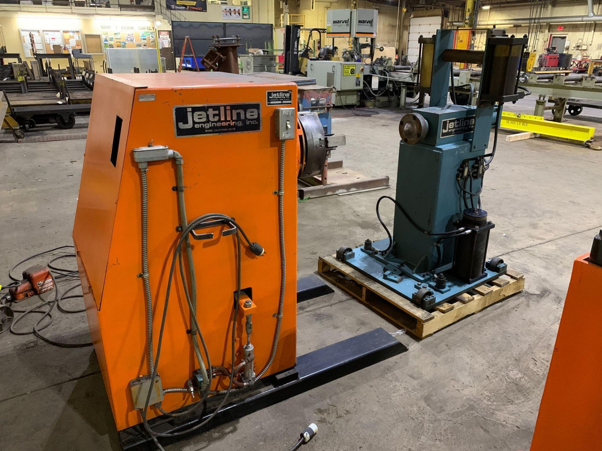 Jetline Welding Positioner Model CU5-216 Serial Number: 07625 Pipe Weld Positioner with Tail Stock I - Image 3 of 15