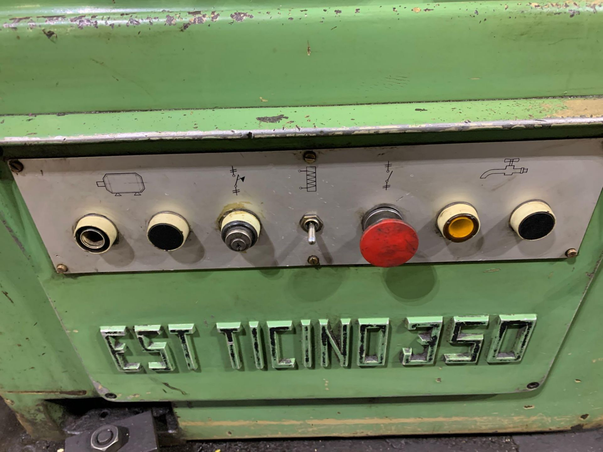 """Est Ticino Heavy Duty Gap Bed Engine Lathe Model: ETS-350 Serial Number: 1943 Rated Capacity: 27"""" x - Image 12 of 31"""