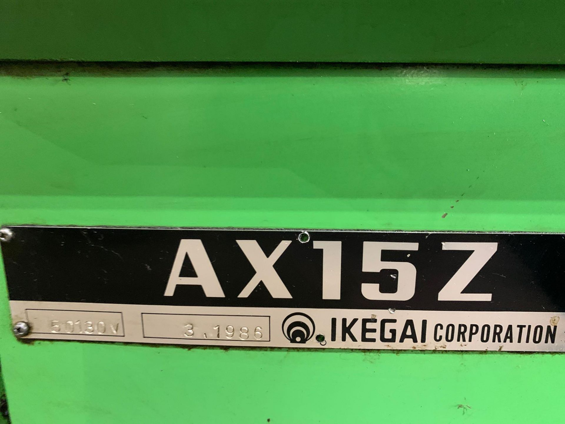 IKEGAI AX-15Z CNC Slant Bed Turning Center Serial Number: 50130V 2-Axis Machine Fanuc 10T Control 12 - Image 16 of 18