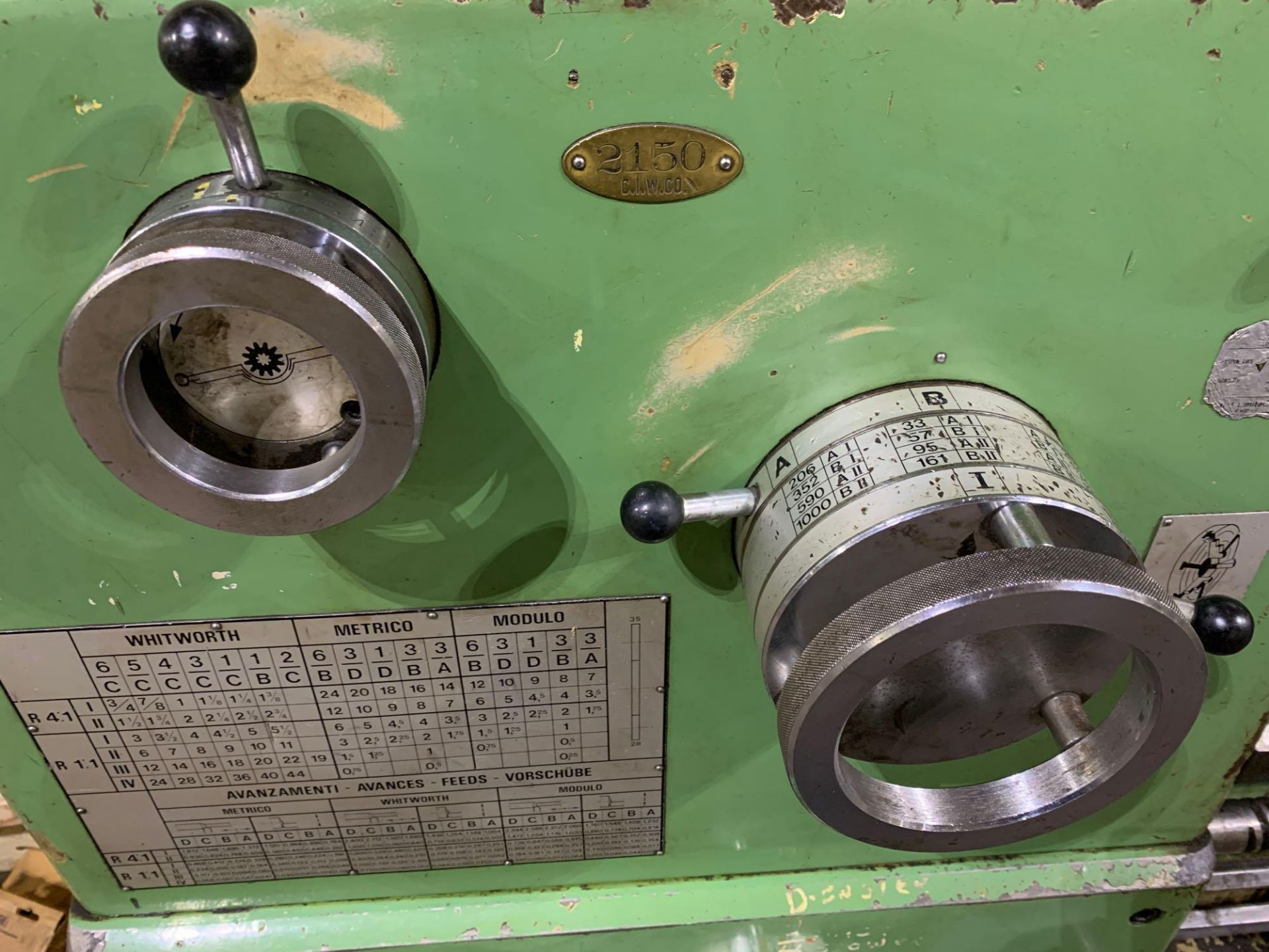 """Est Ticino Heavy Duty Gap Bed Engine Lathe Model: ETS-350 Serial Number: 1943 Rated Capacity: 27"""" x - Image 8 of 31"""