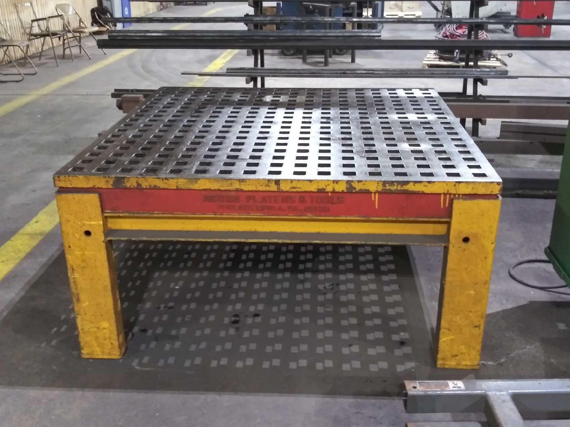 """Acorn Platens & Tools Welding Table, 60""""x60""""x30"""", square hole dimensions 1-3/4"""", inv1080 - Image 2 of 15"""