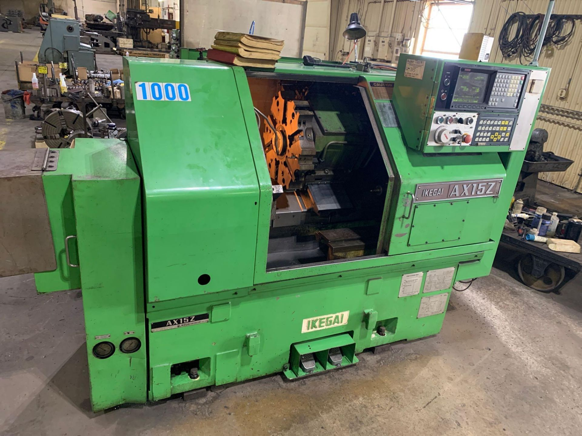 IKEGAI AX-15Z CNC Slant Bed Turning Center Serial Number: 50130V 2-Axis Machine Fanuc 10T Control 12 - Image 2 of 18