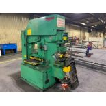UNI-HYDRO 95-24 HYDRAULIC IRONWORKER Model: 95-24 Serial Number: 3P9560 Capacity: 95 Ton Punching Th