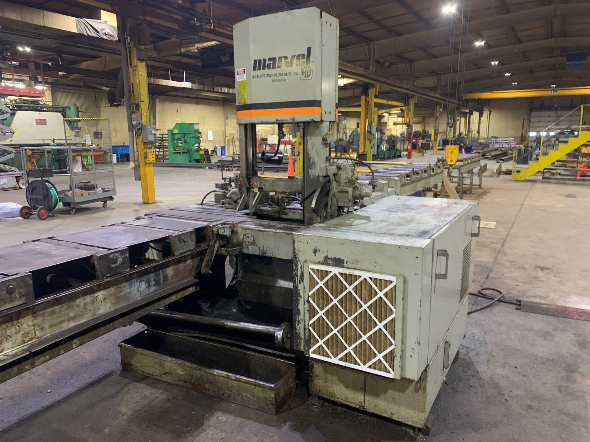 """Marvel Armstrong Blum Automatic Universal Band Saw Model 81A11PC Rated Capacity 18"""" x 20"""" Serial No. - Image 9 of 30"""