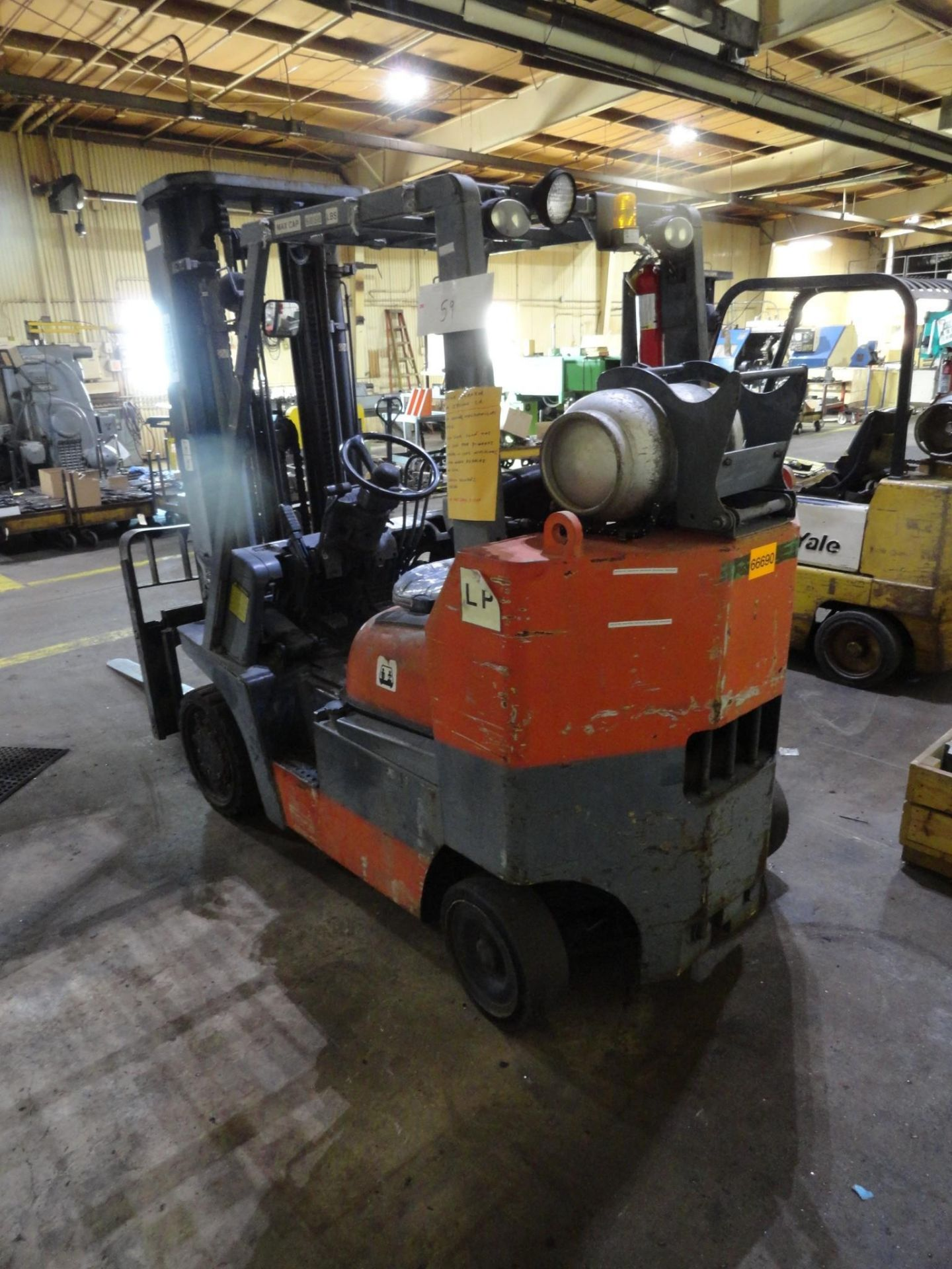 Toyota LP Forklift Truck Model 52-6FGCU35-BCS Serial 62181 6830 Lb Capacity 2-speed Forward and Reve - Image 3 of 18