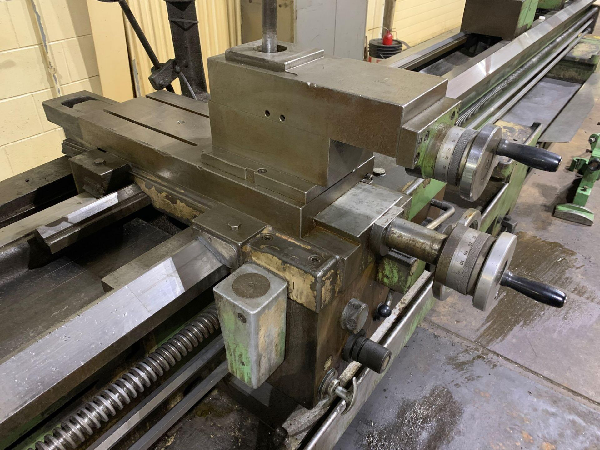 """Est Ticino Heavy Duty Gap Bed Engine Lathe Model: ETS-350 Serial Number: 1943 Rated Capacity: 27"""" x - Image 13 of 31"""