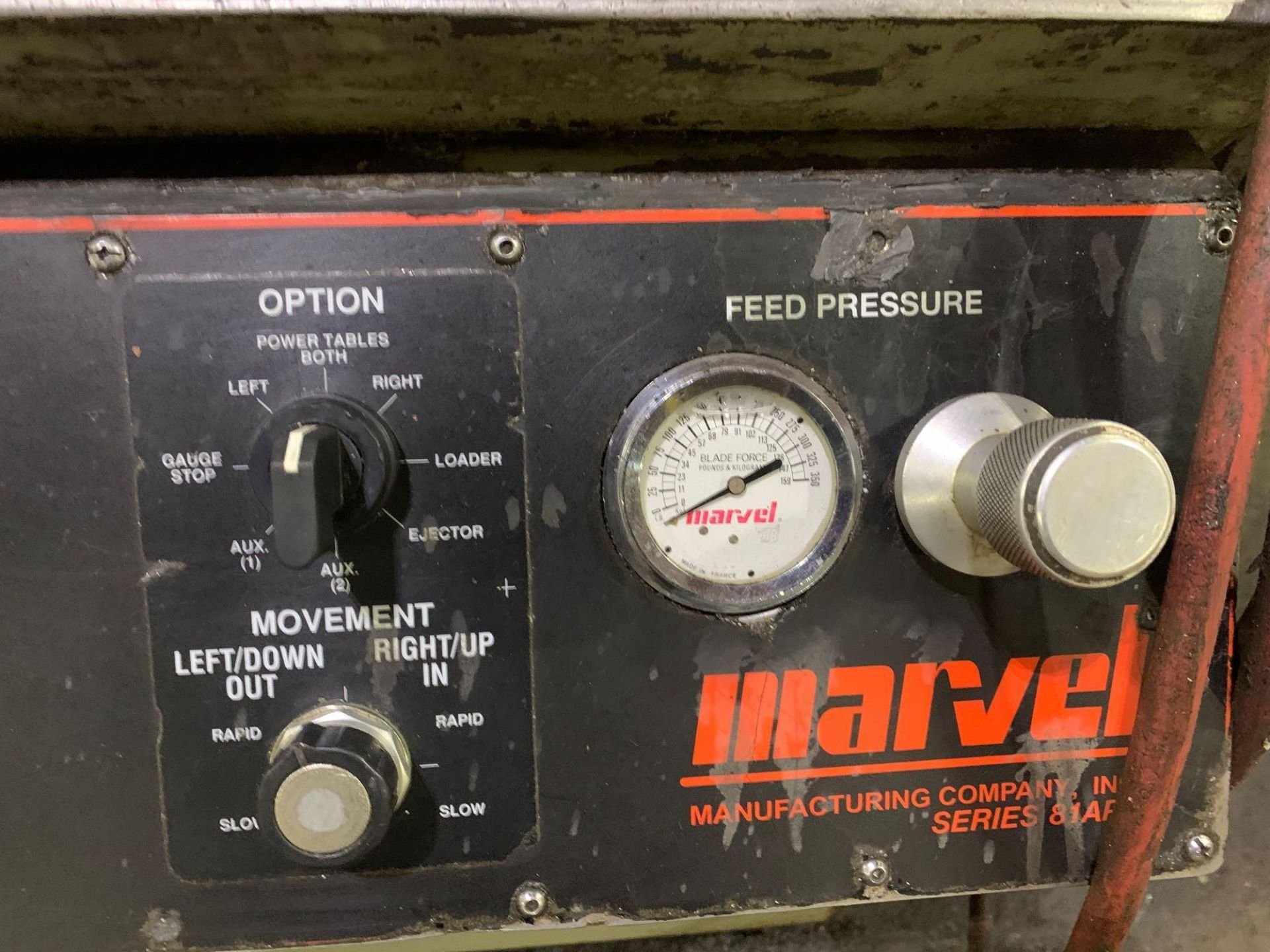 """Marvel Armstrong Blum Automatic Universal Band Saw Model 81A11PC Rated Capacity 18"""" x 20"""" Serial No. - Image 25 of 30"""