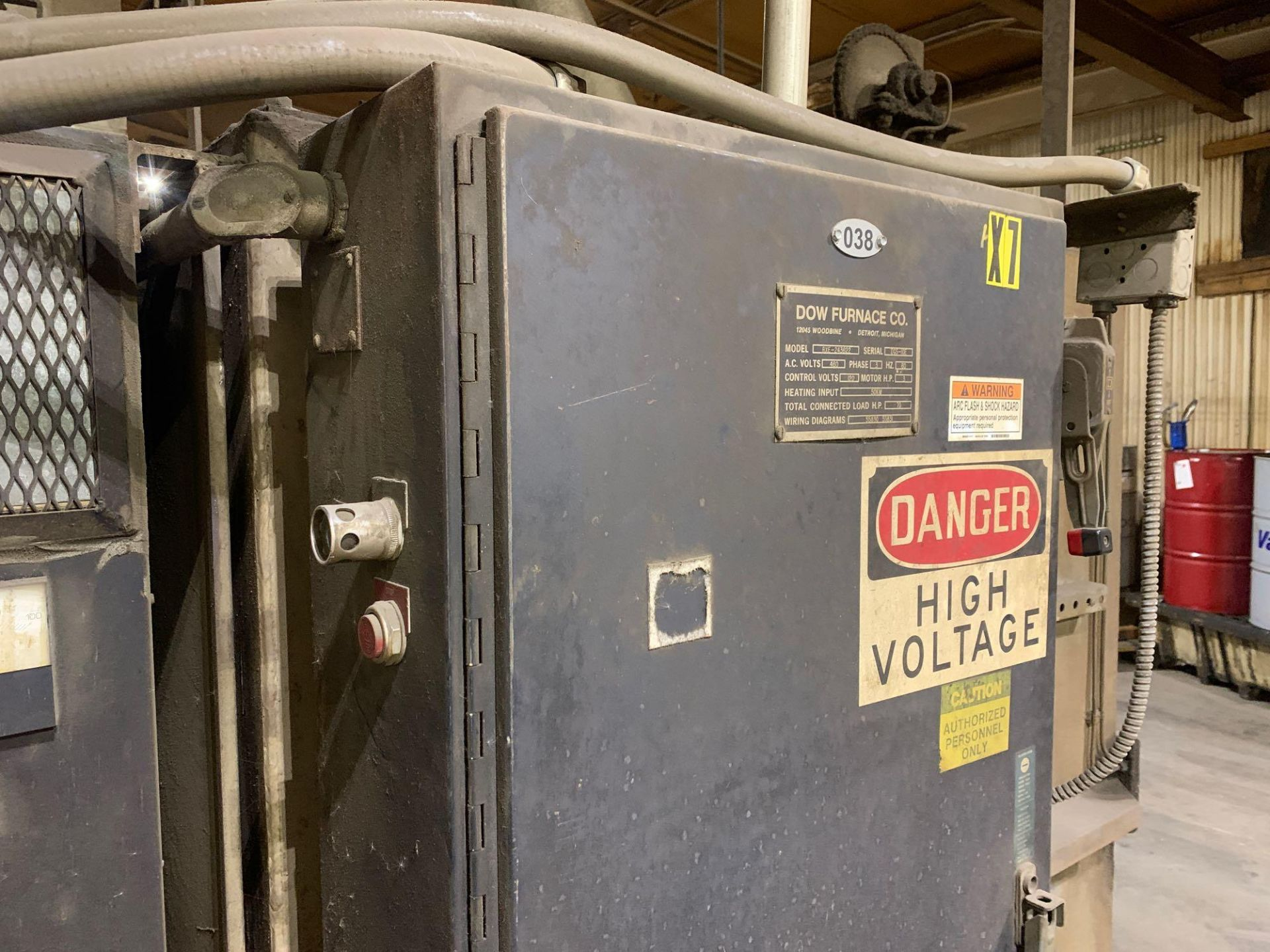 Dow Furnace Co. Electric Draw Furnace Seller States It Will Do At Least 1200 Degrees Model Bxe-24362 - Image 10 of 21