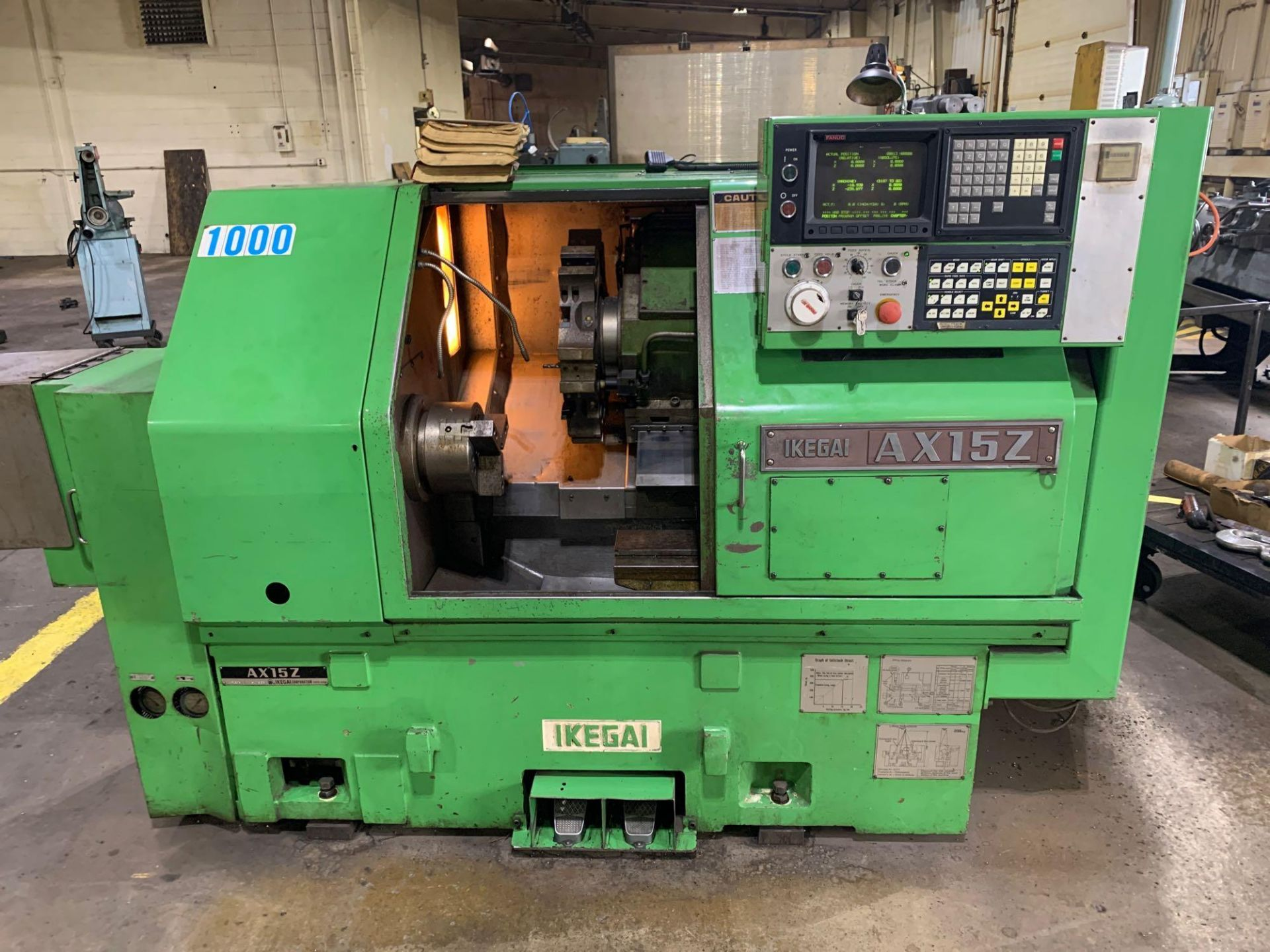 IKEGAI AX-15Z CNC Slant Bed Turning Center Serial Number: 50130V 2-Axis Machine Fanuc 10T Control 12 - Image 4 of 18