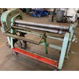 "Lown B400 (B-450) Initial Pinch Plate Bending Roll 4"" Rolls, 48"" x 12-14 ga."